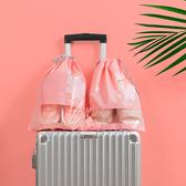 ♚MY COLOR♚便攜式防塵束口袋(小) 透明櫥窗 整理包 旅遊 出國 洗漱用品 毛巾 【P294】