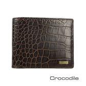 Crocodile Croco 義大利植物鞣製皮 鱷魚壓紋短夾 0103-5003