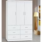 衣櫃 衣櫥 AT-129-1 純白耐磨4X7尺衣櫃【大眾家居舘】
