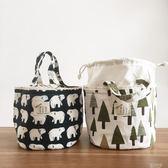 飯盒袋手提袋便當袋小帶飯包保溫袋圓形大號手提飯盒包便當包防水『潮流世家』