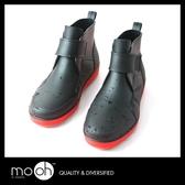 男款雨鞋 短筒雨靴 防水防滑 時尚男士撞色低筒雨鞋 mo.oh (男士鞋款)
