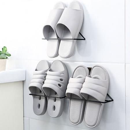 三角壁掛簡易鞋架 無痕貼鞋架 收納架 拖鞋架 鞋架 客廳 浴室 居家 黏貼式 牆面 收納 拖鞋 鞋子