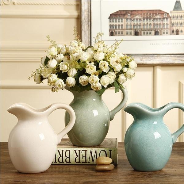 陶瓷花瓶擺件輕奢北歐插花水培花器客廳家居裝飾