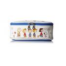 SNOOPY歡樂校車系列PU皮革上掀式筆袋/化妝包(藍) Marimo_FT10402