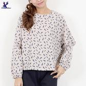 【秋冬新品】American Bluedeer - 羽毛印花平織上衣 二色