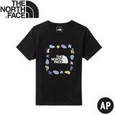 【The North Face 女 TNF 短袖T恤《黑》】4UBP/短T/休閒短袖/T恤