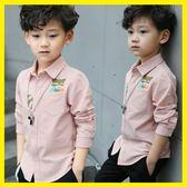 雙12購物節   童裝男童秋款襯衫2018新款中國風兒童長袖襯衫純棉韓版中大童潮襯   mandyc衣間
