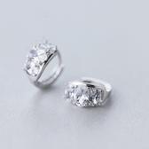 耳環 925純銀鑲鑽-耀眼迷人生日情人節禮物女飾品73ds49【時尚巴黎】