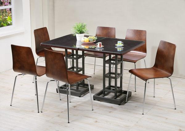 *集樂雅*【DY8060WA2-6P】環保低甲醛時尚流行餐桌椅組 / 書桌椅組 / 電腦桌椅組(二桌六椅)