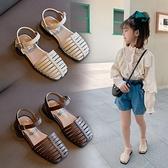 女童包頭涼鞋2021夏季新款韓版小女孩時尚公主鞋軟底兒童羅馬涼鞋 幸福第一站