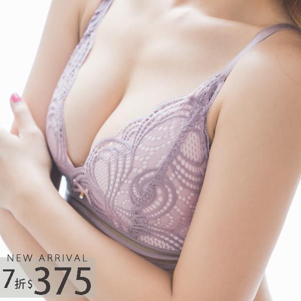 內衣 波西米亞成套內衣組(三色:黑、紫、綠)-集中爆乳胸罩_A罩杯~B.C.D大罩杯_蜜桃洋房