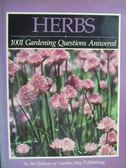 【書寶二手書T3/園藝_YCV】HERBS_1001 Gardening Questions Answered