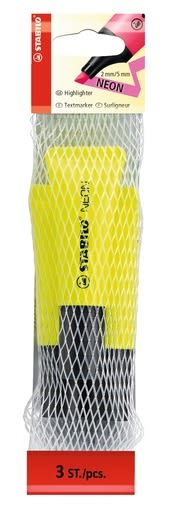 STABILO NEON系列 螢光筆 3支裝 (黃色3支) 型號:72/3-24