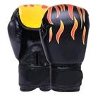 nc-兒童款火焰黑色散打拳套自由搏擊格鬥沙袋男女泰拳專業訓練拳套
