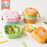 兒童餐具雙層水果保鮮盒便攜可愛卡通便當盒學生餐盒迷你寶寶飯盒