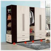 【水晶晶家具/傢俱首選】伊凡卡2.7 尺白橡色雙門衣櫃( 單)(編號1) ZX8102-6
