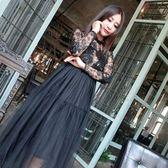 洋裝-蕾絲黑色性感優雅時尚氣質長袖連身裙72f6【巴黎精品】