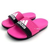 《7+1童鞋》ADIDAS ADILETTE COMFORT K  超輕量防水運動拖鞋 7320 桃色