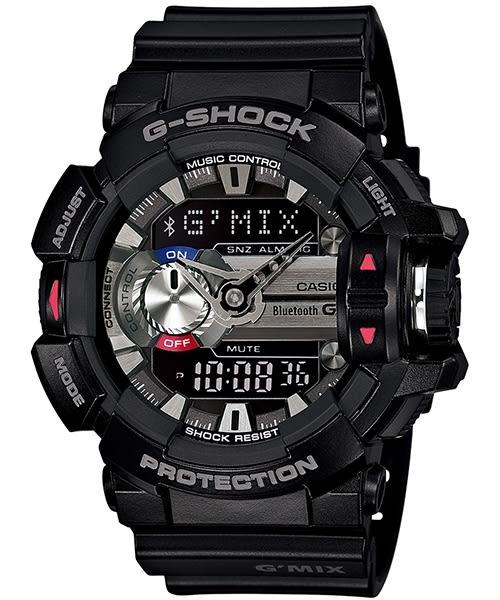 【時間光廊】 CASIO 卡西歐 黑 藍牙手機連線 控制音樂 G-SHOCK 原廠公司貨 GBA-400-1ADR
