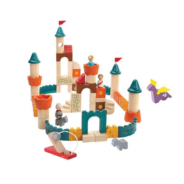 《 泰國 PLAN TOYS 》飛龍城堡木質積木組 / JOYBUS玩具百貨