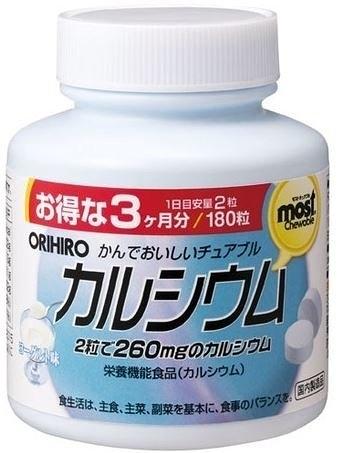 日本【ORIHIRO】MOST口嚼碇 鈣180粒