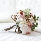 森系韓式新娘手捧花花球仿真鮮花束