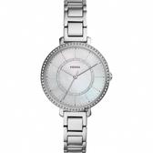 FOSSIL Jacqueline 愛在晶鑽時尚女錶-珍珠貝x銀/36mm ES4451