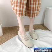 豆豆鞋 夏季瓢鞋仙氣春秋單鞋一腳蹬豆豆鞋奶奶鞋女平底百搭奶奶鞋子 韓菲兒