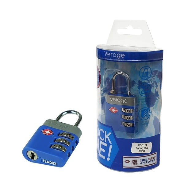 Verage 體育系列TSA海關密碼鎖『藍』379-5111  海關鎖|密碼鎖