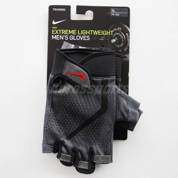 Nike 運動手套 Extreme Lightweight Fitness Gloves 健身 訓練 黑 紅 多功能手套 男款【ACS】 NLGC4-937