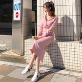 韓國春秋時髦套裙修身顯瘦連帽衛衣休閒包臀長裙兩件套裝加大 聖誕節交換禮物