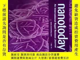 二手書博民逛書店Nano罕見Today (Journal) VOL 15 2017納米科學技術學術期刊Y14610
