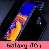 【萌萌噠】三星 Galaxy J6+ (2018) 6吋 個性創意日韓情侶款 三節電鍍軟邊框 全包防摔透明軟殼 手機殼