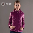 【JORDON 橋登 女 超輕量羽絨夾克《紫紅》】439/輕量化羽絨衣/可收納羽絨衣/保暖羽絨外套
