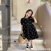 女童韓版洋氣洋裝/連身裙2021夏裝新款女童燈籠袖公主裙碎花兒童娃娃裙 快速出貨