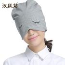 月子帽 純棉睡帽睡覺女全棉透氣頭巾帽月子帽包頭帽男秋冬厚絨保暖套頭帽