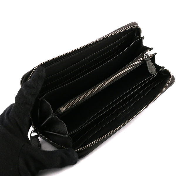【BOTTEGA VENETA】小羊皮多層ㄇ型長夾 ( 黑色)  275064 V001N 1000