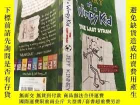 二手書博民逛書店diary罕見of a wimpy kid the last straw 一 個懦弱的孩子的日記最後一根 稻 草.