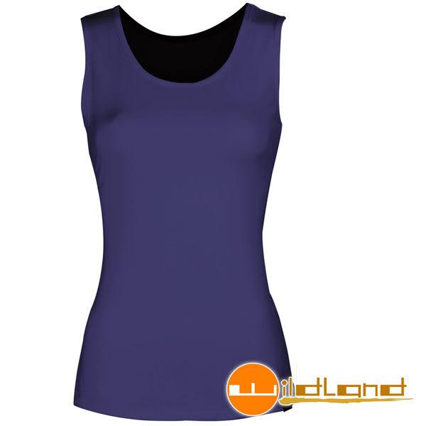 Wildland 荒野 W1683-53紫色 女透氣排汗背心內衣