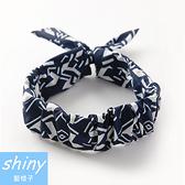 【DJZ4106】shiny藍格子-簡約髮帶格子髮箍