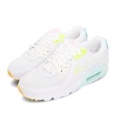 Nike 休閒鞋 Wmns Air Max 90 Pastel 白 黃 女鞋 粉彩配色 運動鞋【ACS】 CZ0366-100