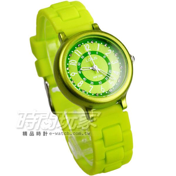 Lotus 時尚錶 日本機蕊 繽紛馬卡龍 數字時刻矽膠腕錶 數字錶 女錶 學生錶 TP2122L-10青綠