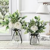 仿真花束假花客廳裝飾擺件北歐ins絹花餐桌花玫瑰花套裝花藝擺設 米娜小鋪