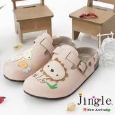 【Jingle】森林童趣遊前包後空軟木鞋(粉色大人款)