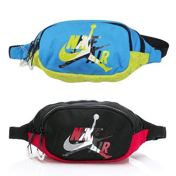 NIKE JORDAN 腰包 休閒包 NIKE x JORDAN 聯名款 JD2023003GS 黑紅/藍