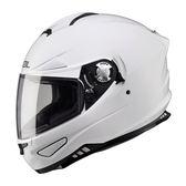 【SOL SF-5 SF5 素色 素白 全罩安全帽 】內襯全可拆,內藏鏡片/免運+好禮