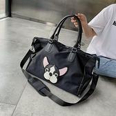 健身包 短途旅行包女手提輕便大容量行李袋出差男士旅游登機健身包女袋包 快速出貨