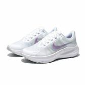 NIKE 慢跑鞋 ZOOM WINFLO 8 白紫 輕量 避震 女(布魯克林) CW3421-102