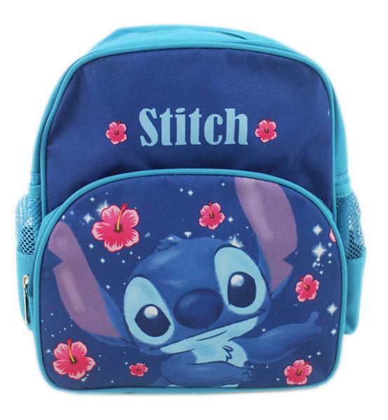 【卡漫城】 史迪奇 後背包 福桑花 高25cm S ㊣版 書包 Stitch 星際寶貝 幼兒 兒童 外出包 造型 背包
