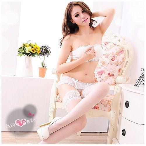 性感蕾絲邊長筒絲襪(白) SEXYBABY 性感寶貝JA-24120953